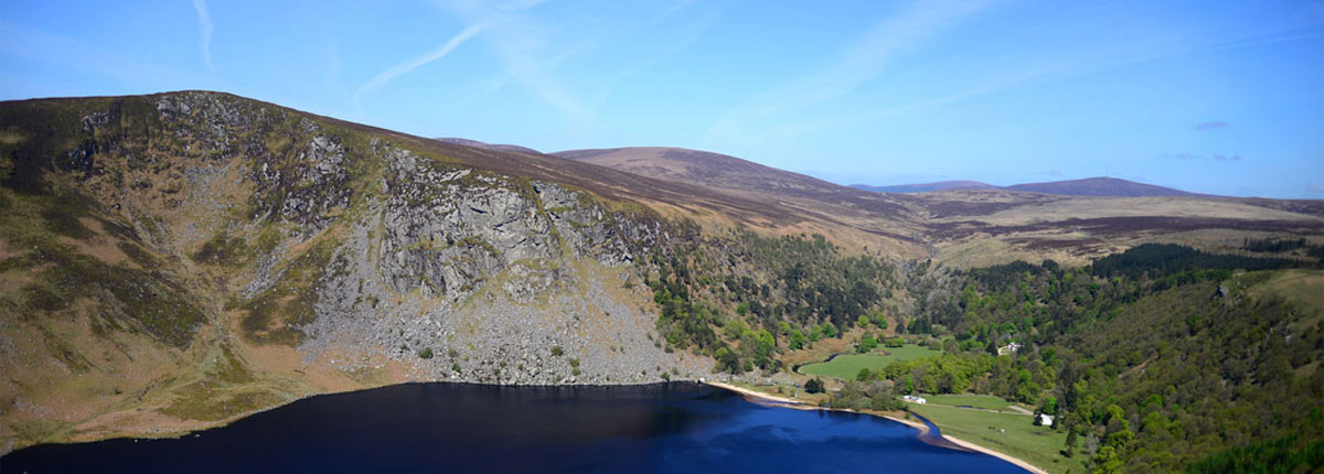 Lough Tay in Wicklow